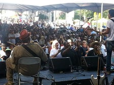 View from the stage at the Central Avenue Jazz Festival