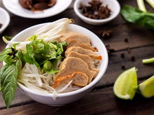 Pho with soy chicken at Au Lac Los Angeles