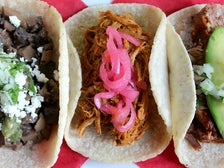 Signature tacos at Lotería Grill