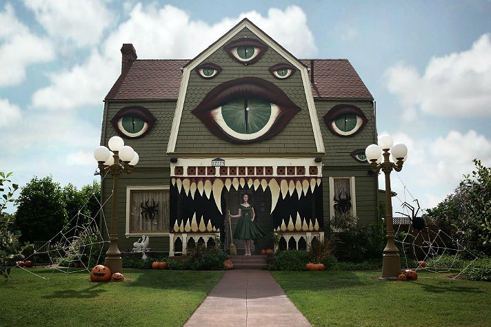 Halloween house decorated by Christine McConnell