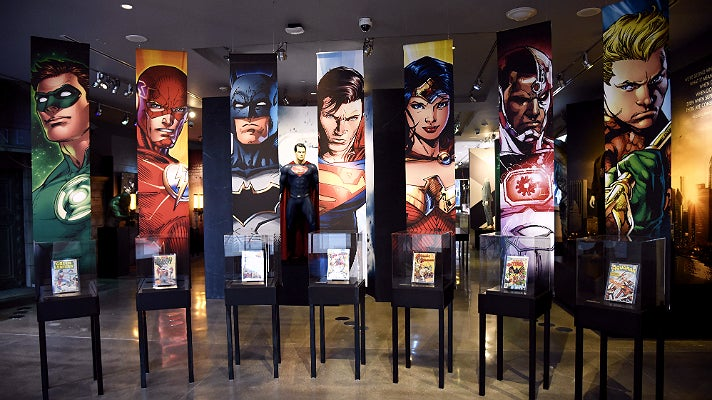 "Origins of the Justice League from ""DC Universe"" at Warner Bros. Studio Tour Hollywood"