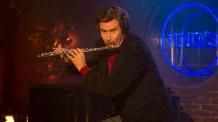 """Will Ferrell as Ron Burgundy in """"Anchorman"""""""