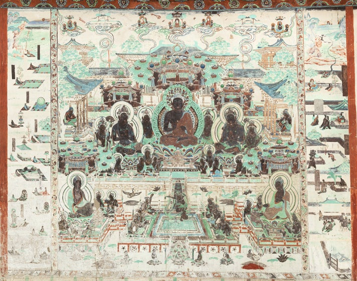 """Cave 320, north wall from """"Caves of Dunhuang""""at the Getty Center"""