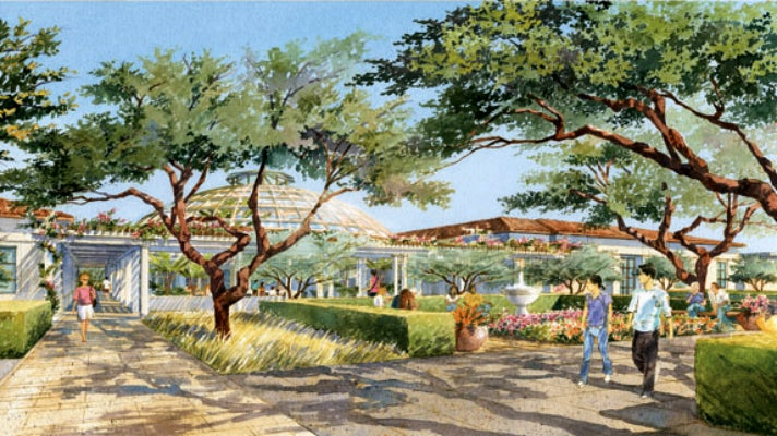Concept art for the Steven S. Koblik Education and Visitor Center at The Huntington