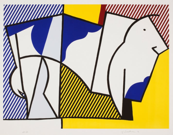"Roy Lichtenstein, ""Bull III,"" from the Bull Profile Series, 1973"