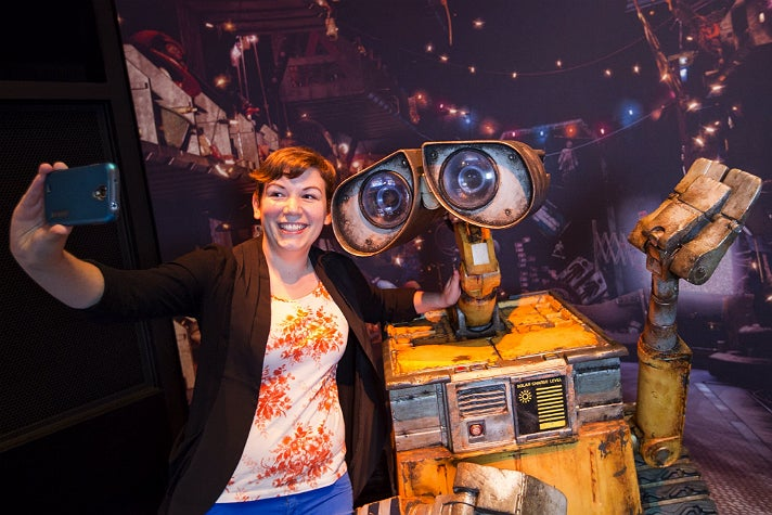 """Learn how cameras tell a story while taking a selfie with WALL•E at """"The Science Behind Pixar"""""""