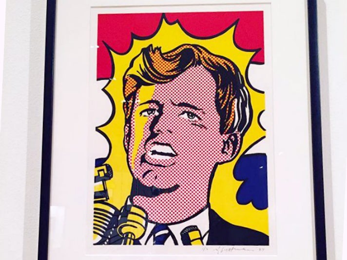 "Roy Lichtenstein, ""Bobby Kennedy"" (1968) at Skirball Cultural Center"