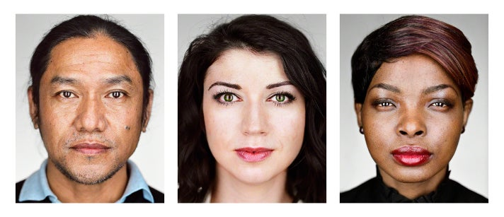 """New Americans"" (L to R):  Bhimal, 42, Bhutan; Maryna, 27, Belarus; Patricia, 22, Democratic Republic of the Congo. New York, New York, 2016"