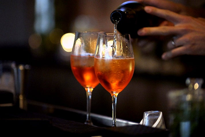 Aperol Spritz at Bar Toscana