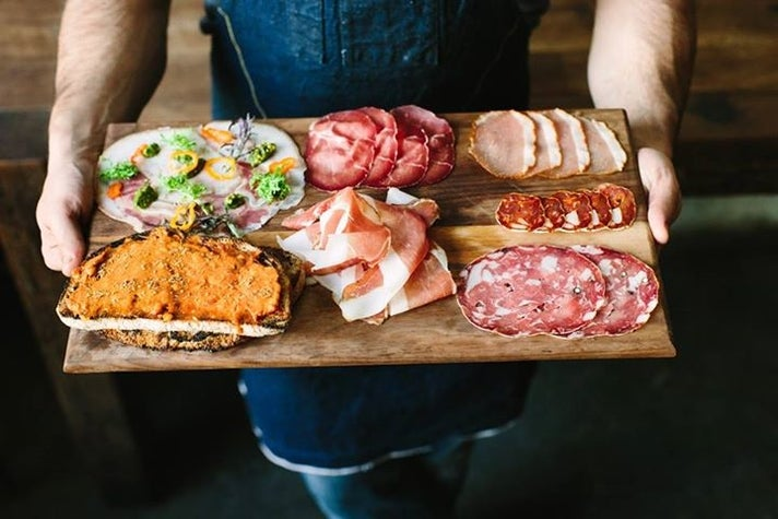 Charcuterie plate at Bestia