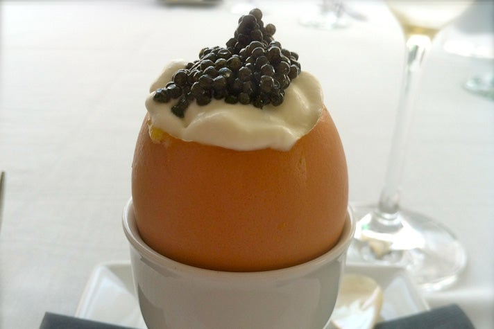 Egg Royale at Petrossian West Hollywood
