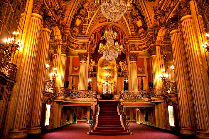 Lobby of the Los Angeles Theatre in Downtown L.A.