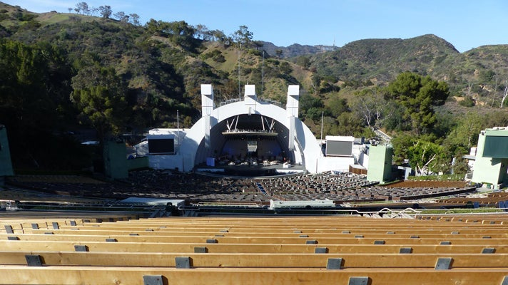Seating at the Hollywood Bowl