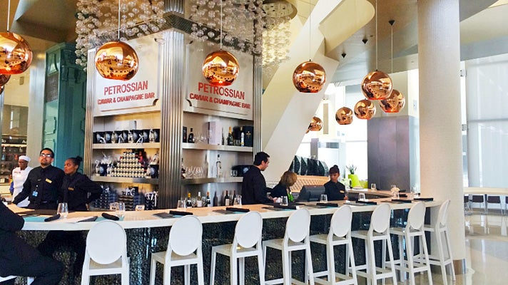Petrossian Caviar & Champagne Bar at LAX Tom Bradley International Terminal