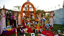 Dia de los Muertos altar at Hollywood Forever