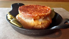 Grilled cheese sandwich at Plan Check