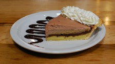 Chocolate Espresso Almond Cream pie at Republic of Pie