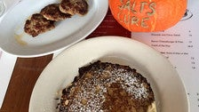 Oatmeal griddle cakes at Salt's Cure