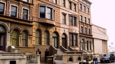 Brownstone Set on New York Street at Paramount Studios