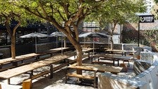 Horse Thief BBQ Outdoor Seating Area