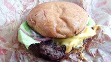 """""""Fast burger"""" at Belcampo Meat Co. in Grand Central Market"""