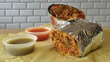 Chorizo burrito at Cofax Coffee