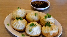 Pan fried dumpling at Mei Long Village