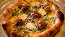 Fennel sausage pizza at Pizzeria Mozza