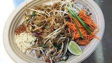Pad thai at Sticky Rice in the Grand Central Market