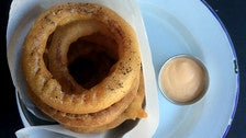 Balsamic onion rings at The Tripel