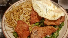 Spicy fried pork chops at Uncle John's Cafe