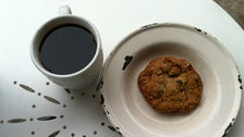 Oatmeal blueberry chocolate cookie