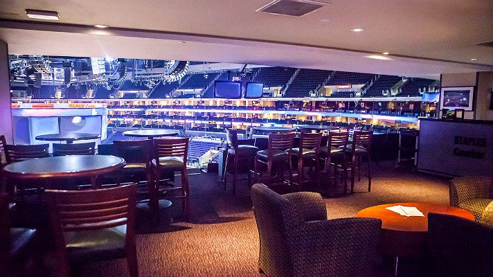 Private suite at STAPLES Center