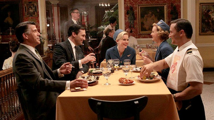 "Don and Sal have dinner from ""Mad Men"" Season Three"