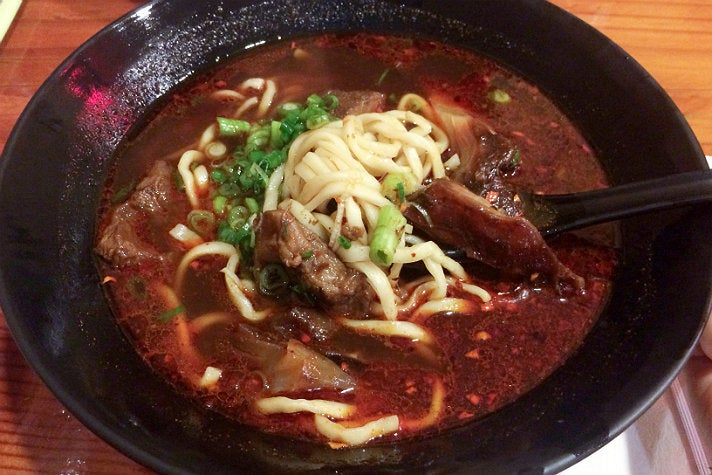 Beef noodle soup at Bull Demon King Cafe