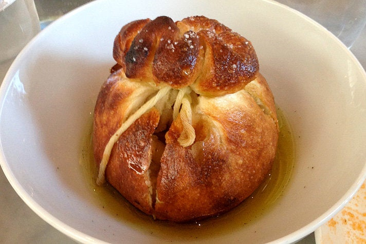 Garlic knot at Milo and Olive