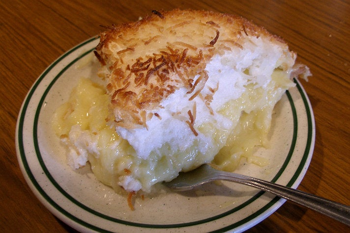 Coconut cream pie at Pie 'N Burger