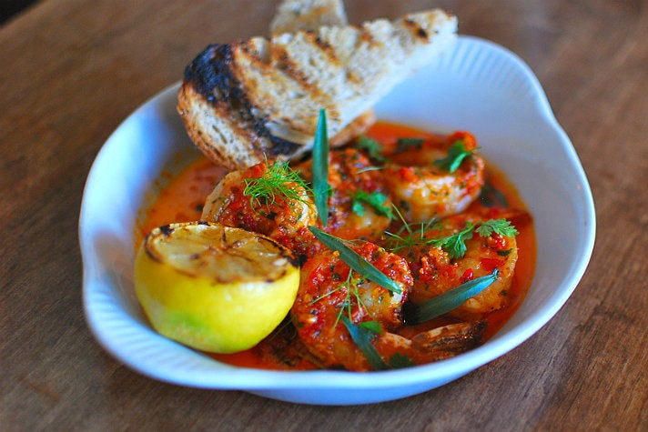 California prawns scampi at Rustic Canyon   Photo by Joshua Lurie