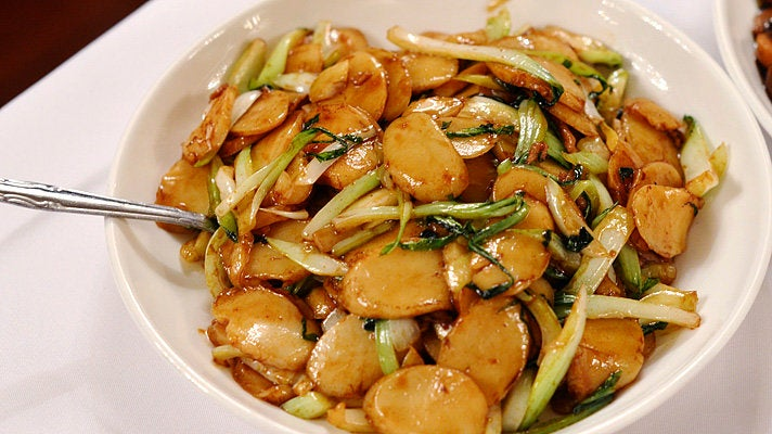 Rice cakes at Shanghai No. 1 Seafood Village