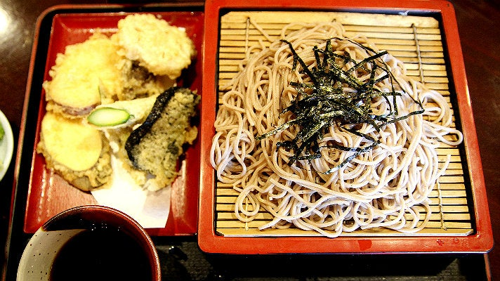 Cold soba at Yabu