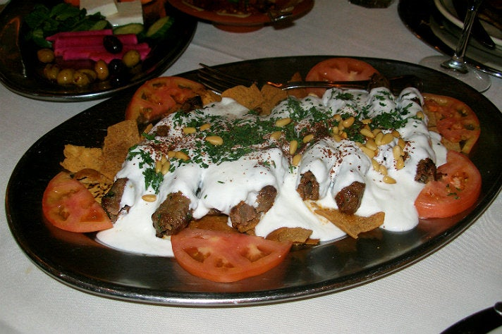 Yogurt kebab at Carousel Restaurant