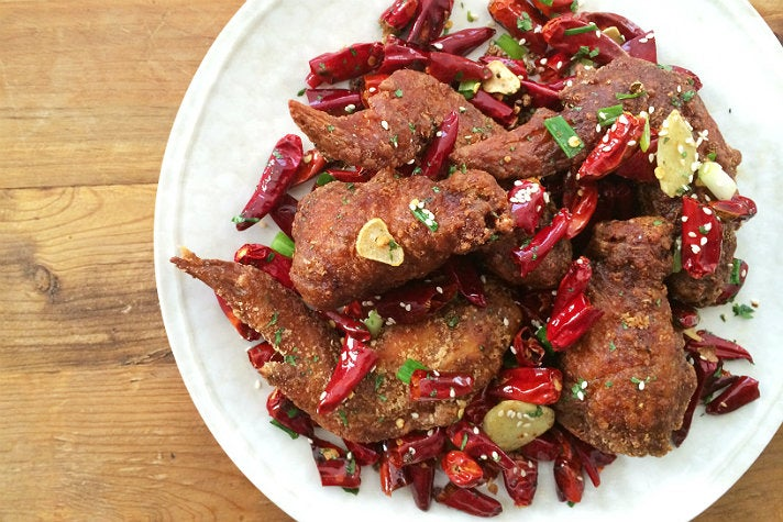Spicy chicken wings at Cassia