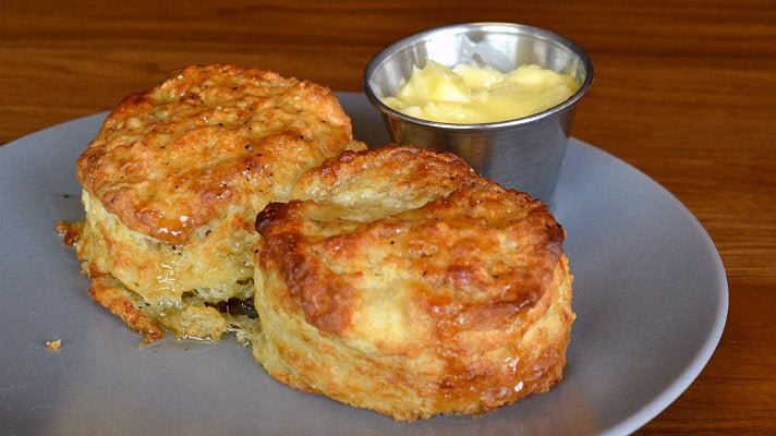 Cheddar buttermilk biscuits at Charcoal