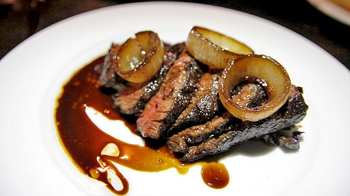 Hanger steak at Flores and The Ladies' Gunboat Society