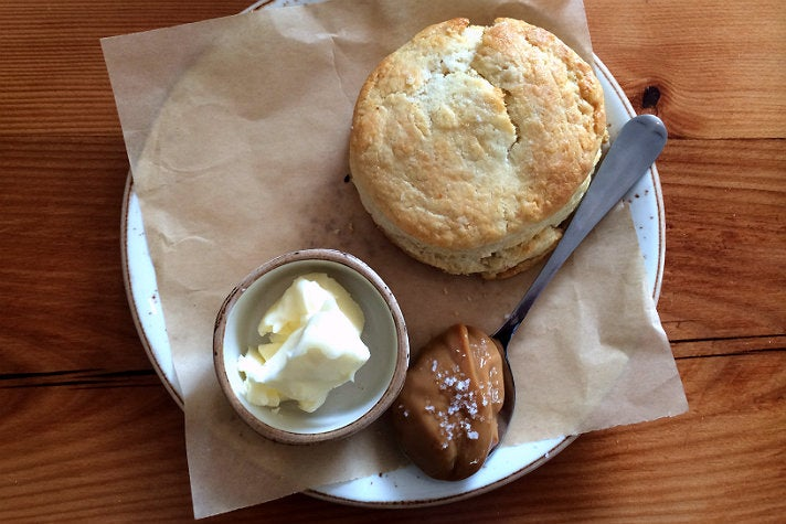 Biscuits with dulce de leche at Playa Provisions
