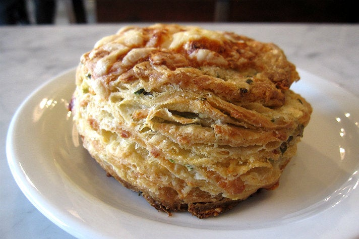 Chive Gruyère biscuit at Proof Bakery