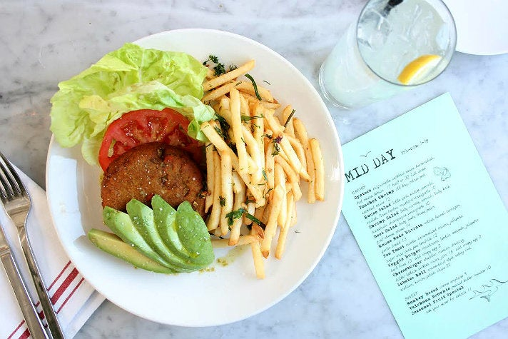 Veggie burger at Salt Air
