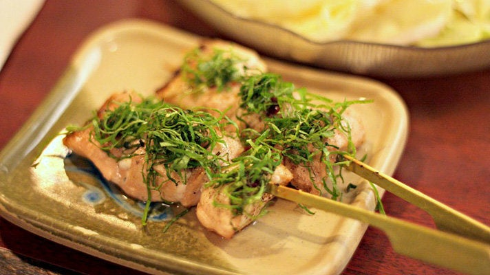 Chicken yakitori at Shin-Sen-Gumi