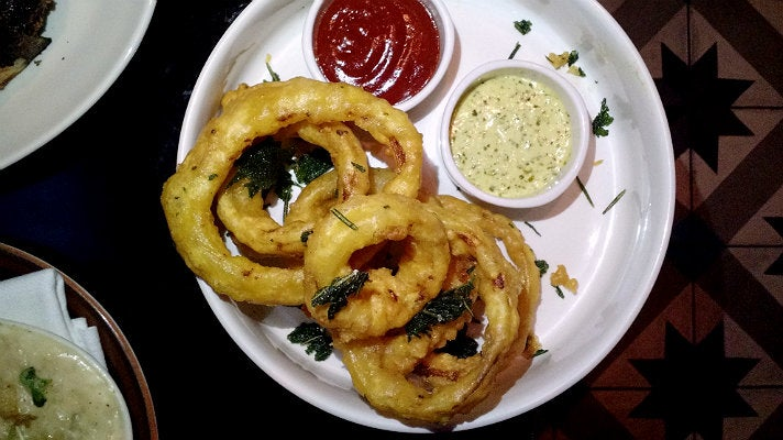 Onion rings at Steak & Whisky