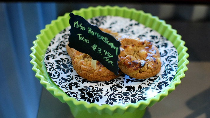 Miso butterscotch cookies at TAZA